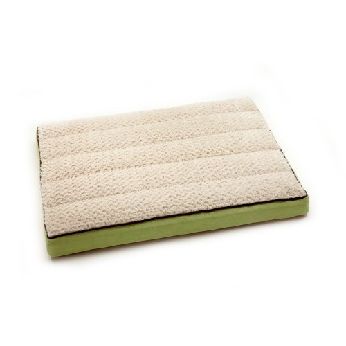 Neat Solutions For Pets Pillow Top Comfort Lounge Polka Cuddle Plush, Moss/Toast, 25-Inch By 33-Inch front-53178