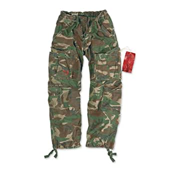 Surplus Airborne Vintage Trousers, woodland, S