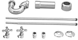 chrome p trap pedestal bathroom sink drain kit home improvement