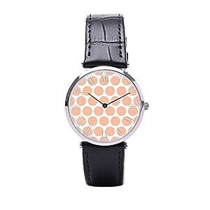 Dr. Koo Abstract Polka Dots Men Wrist Watch Color Polka Dots Mens Wrist Watch