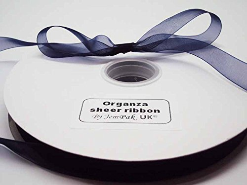 5m-x-10mm-organza-sheer-ribbon-navy-blue