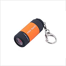 Fun N Shop Mini USB Rechargeable White LED Light Torch Keychain (COLOR MAY VARY)