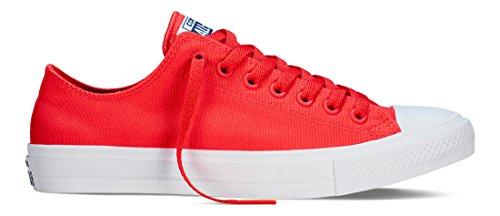 Converse Sneakers Chuck Taylor All Star II C151123, Scarpe da Ginnastica Basse Unisex - Adulto, Rosso, 43 EU