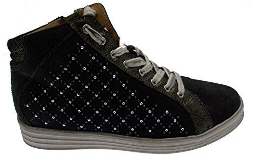 art C3651 lacci training camoscio antracite cerniera scarpa donna 38 nero
