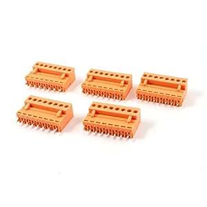 5 Set 3.96mm Spacing 8 Pin Screw Pluggable Terminal Block Orange