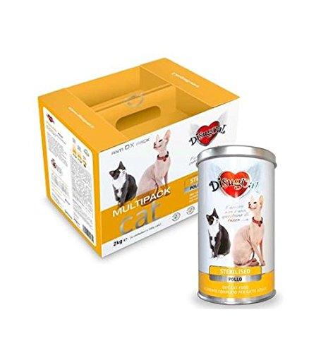 Disugual Multipack Mantenimento Sterilised Pollo 2 kg (4x500 gr) + Barattolo 400 gr - Alimento completo in sacchetti, crocchette per gatti adulti sterilizzati
