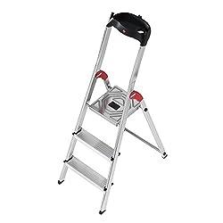 Hailo Aluminium safety-household folding step ladder profistep, 3 steps