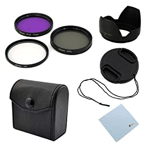 GTMax 52mm Professional Lens Accessory Kit for Nikon DSLR D5200 D5100 D5000 D3100 D3000 D40 D60 D80 D3200[Includes: Filter Set + Lens Cap + Lens Hood + Cleaning Cloth]