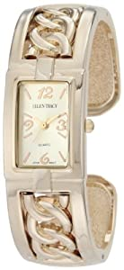 Ellen Tracy Women's ET5006STK Gold Rope Chain Bangle Watch