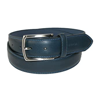 mens leather feather edge with stitch detail 1 1 8