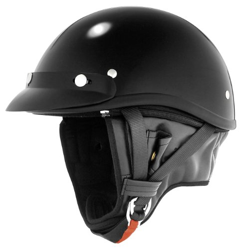 Skid Lid Helmets Classic Solid Touring Helmet , Size: Md, Primary Color: Black, Distinct Name: Black, Helmet Category: Street, Helmet Type: Half Helmets, Gender: Mens/Unisex XF64-6902