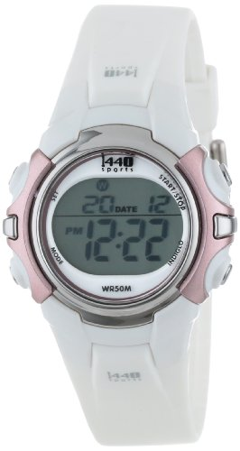 Timex Women's T5G881 1440 Sports Digital White Resin Strap Watch