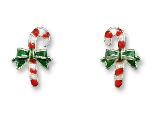 Christmas Candy Cane Post Earrings