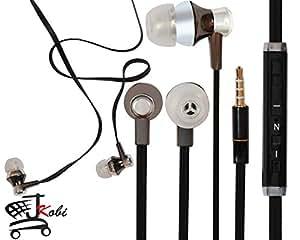 Jkobi Designer In Ear Bud Handsfree Headset Earphones With Mic Compatible For Micromax Canvas Selfie -Black