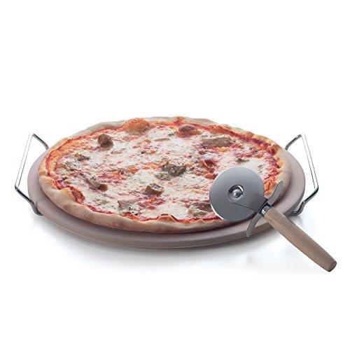 Excèlsa pierre de cuisson 33 x 1 Cm-& &-Roulette à Pizza