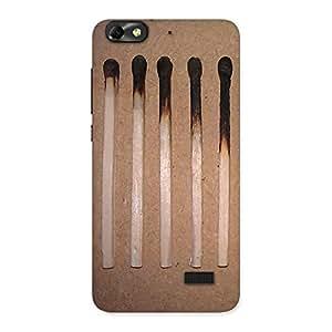 Impressive Burned Matchsticks Multicolor Back Case Cover for Honor 4C