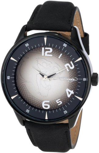 Ed Hardy Men's CG-BK Cartography Black Quartz Analog Watch