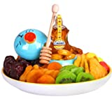 Jerusalem Rosh Hashanah, Shana Tova, Happy Sweet New Year Kosher Honey N Dip Gift Tray