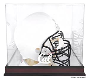 California Bears Mahogany Base Team Logo Helmet Display Case with Mirrored Back -... by Sports Memorabilia