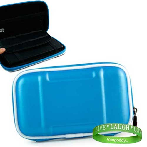 Garmin GPS Navigator AQUA BLUE accessory protective hard shell portable carrying case with carabiner clip for any Garmin GPS Navigator 670 Garmin Nuvi 265WT Garmin Nuvi 880 Garmin Nuvi 265WT Garmin nuvi 285WT Garmin Nuvi 780 Garmin Nuvi 850 by 1 VG LIVE LA