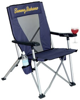Tommy Bahama Reclining Folding Beach And Camping Chair - Dark Blue