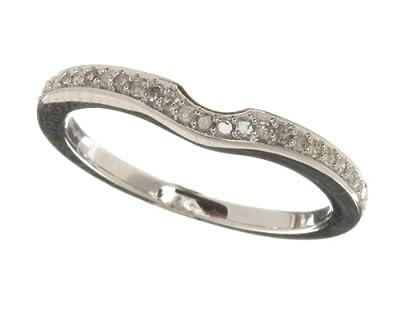Ariel Ladies 9ct White Gold 10Pts Diamond Eternity Ring