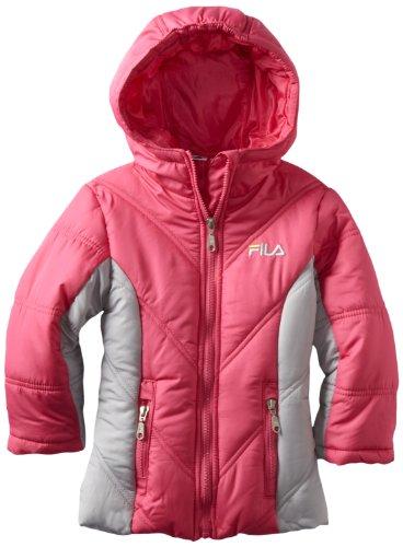 Review Fila Girls 2-6x Heavy Weight Jacket, Pink, 4  Best Offer