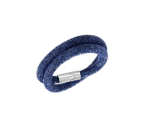 Designer Inspired Stardust-Bracciale Infinity, con chiusura magnetica in acciaio, base metal, colore: blu, cod. 1