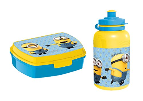 DESPICABLE ME - Minions - Sandwich Box Lunchbox & Sport Bottle