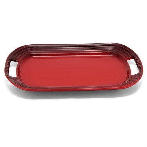 Le Creuset Stoneware Rectangular Serving Platter (Cherry Red)