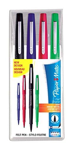 papermate-flair-original-pochette-da-4-pennarelli-da-scrittura-colori-classici-punta-larghezza-10mm