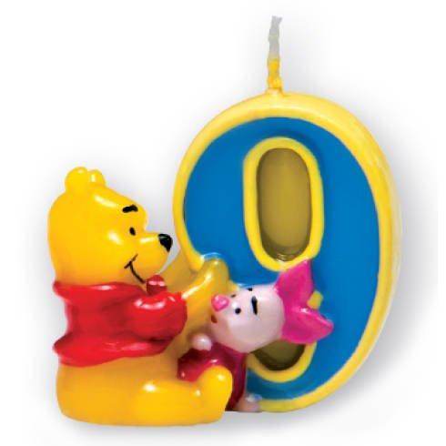 Kerze 9 Winnie Pooh, 3D