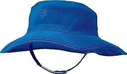Coolibar UPF 50+ Baby Splashy Bucket Hat - Sun Protective (12-24 Months - Blue Wave)