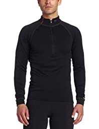 Pearl Izumi Men's Thermal Zip Neck Long Sleeve Baselayer,Black,Small