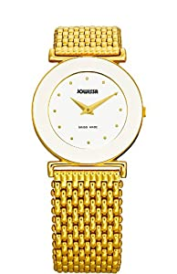 Jowissa Women's J3.020.M Elegance 30 mm Gold PVD White Dial Steel Watch