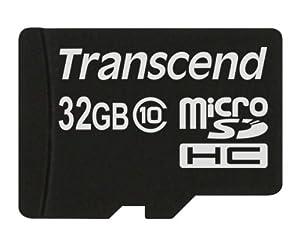 Transcend microSDHCカード 32GB Class10 変換アダプタ無し (無期限保証) TS32GUSDC10