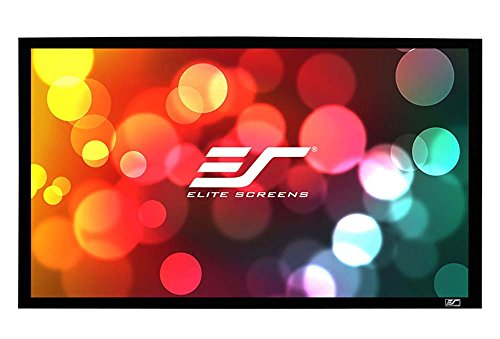 Elite Screens Sable Frame, 138-inch 2.35:1, Sound Transparent Fixed Frame Projection Projector Screen, ER138WH1W-A1080P3 (2 35 Screen compare prices)
