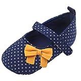 EOZY Zapatos Para Beb� Ni�as Primero Paso Andar Puntos Lazo Nude Azul Oto�o Pirmavera Longitud 12cm
