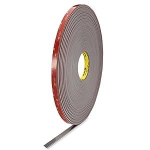 """3M 4991 VHB Double-Sided Foam Tape - 1/2"""" x 36 yards - 18 rolls/case"""