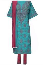 ADA Lucknowi Chikan Handmade Ethnic Salwar Suit Dress Material A93111