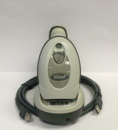 Motorola Symbol Barcode Scanner Ls4278 Usb Wireless W/ Stb4278 Cradle Biege