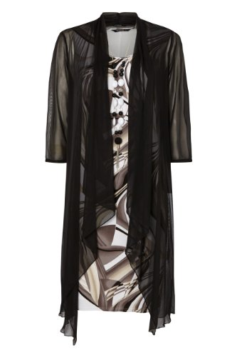 Roman Women's 3 In 1 Shift Dress Occasion Outfit Mocha