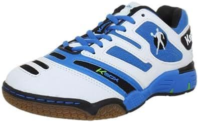 Kempa Stride XL 200846501, Unisex - Erwachsene Sportschuhe - Handball, Weiss (weiß/kempablau/fluogrün 01), EU 45.5 (UK 11) (US 11.5)