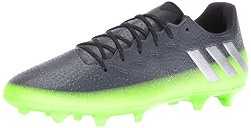 adidas Performance Men's Messi 16.3 Fg Soccer Shoe, Dark Grey/Metallic Silver/Neon Green, 10.5 M US (Neon Green Football Cleats compare prices)