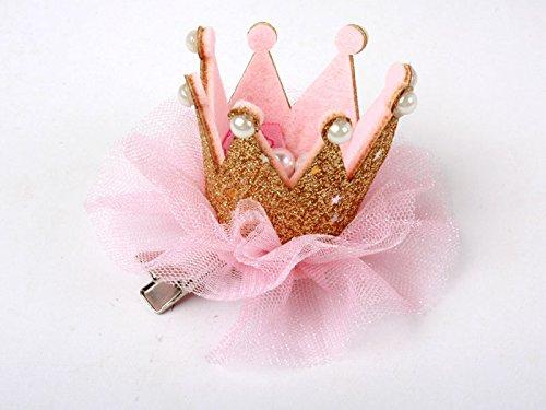 子供 クイーン冠型 真珠 ヘアピン ヘアピン コスプレ 文化祭 金色