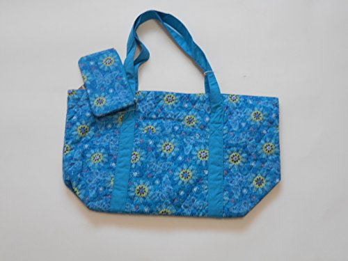 East Coast Quilted Tote Bags Aqua and Green Circles