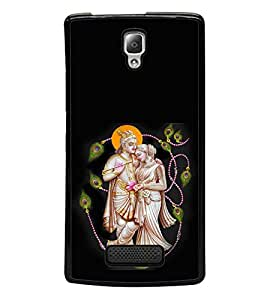 printtech Lord God Radha Krishna Back Case Cover for Lenovo A2010