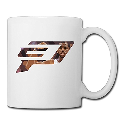 White Chris Paul Logo Novelty Coffee Mug