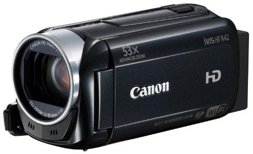 Canon デジタルビデオカメラ iVIS HF R42 光学32倍ズーム 内蔵32GBメモリー ブラック IVISHFR42BK