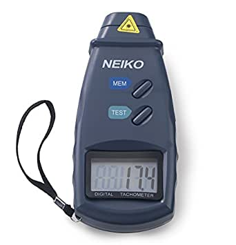 Neiko 20713A Professional Digital Laser Photo Non-Contact Tachometer with Accuracy 99,999 RPM Measurement
